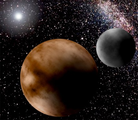 Pluto and Charon artists impression
